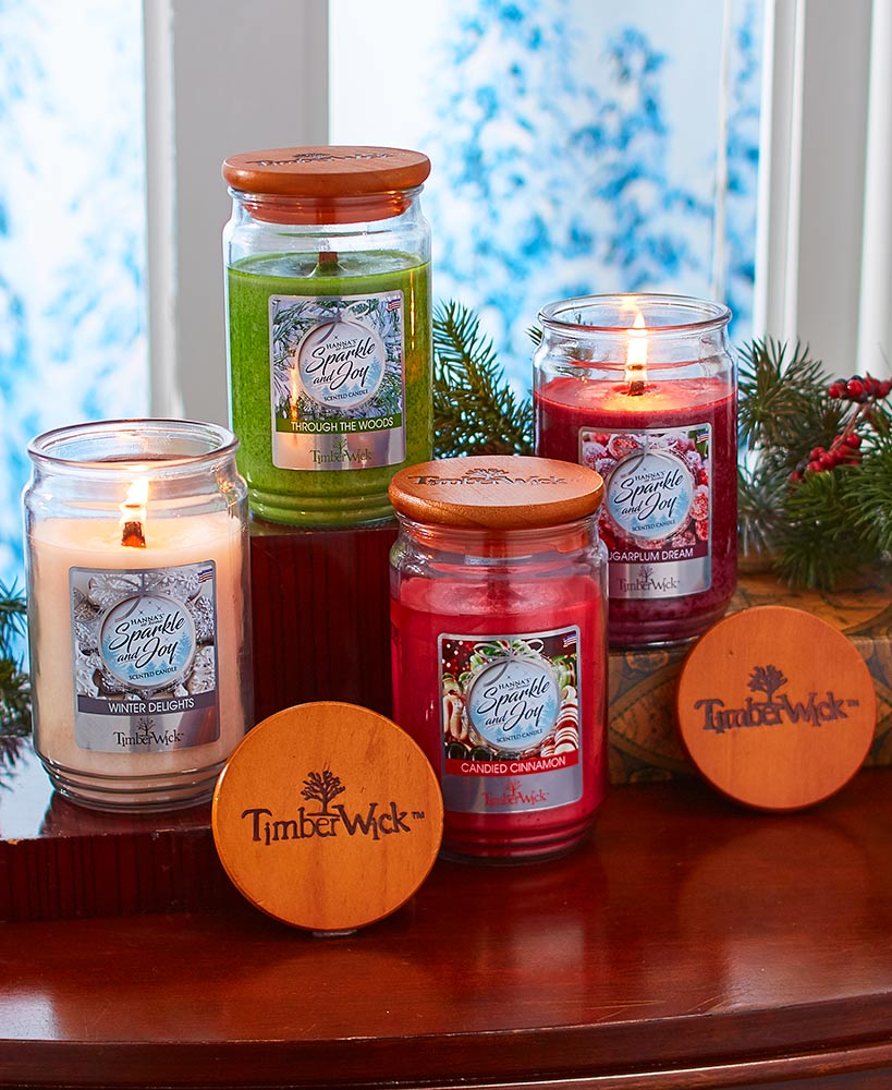 Holiday jar candles