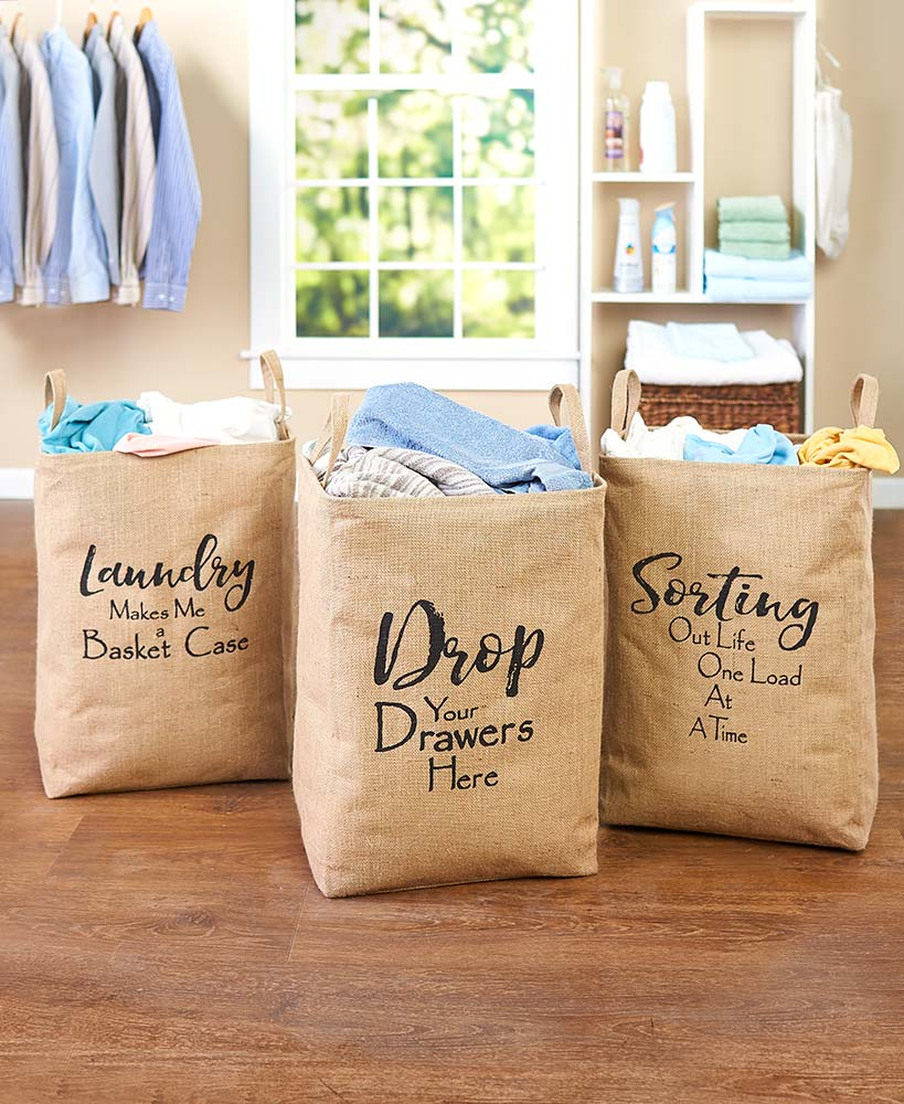 Modern Primitive Decor Sentiment Laundry Bags