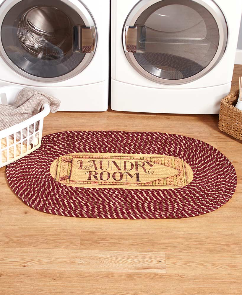 Primitive Decor Braided Laundry Room Rug