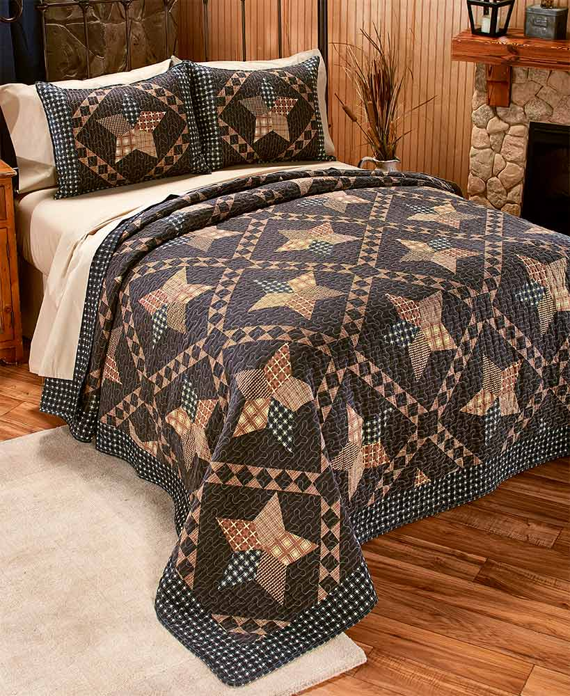 Country Primitive Decor Patchwork Star Bedding