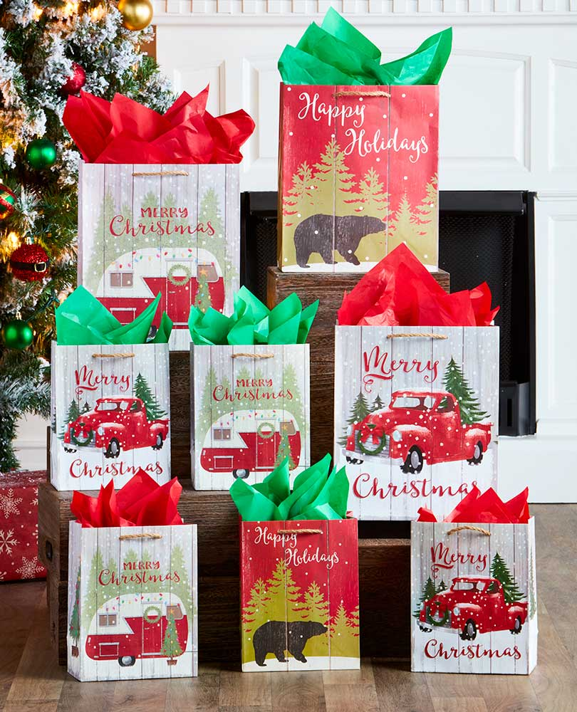 Country Woods Christmas Gift Bags
