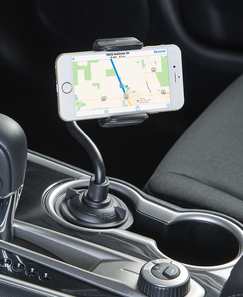 Universal Grip Cup Holder Phone Mount