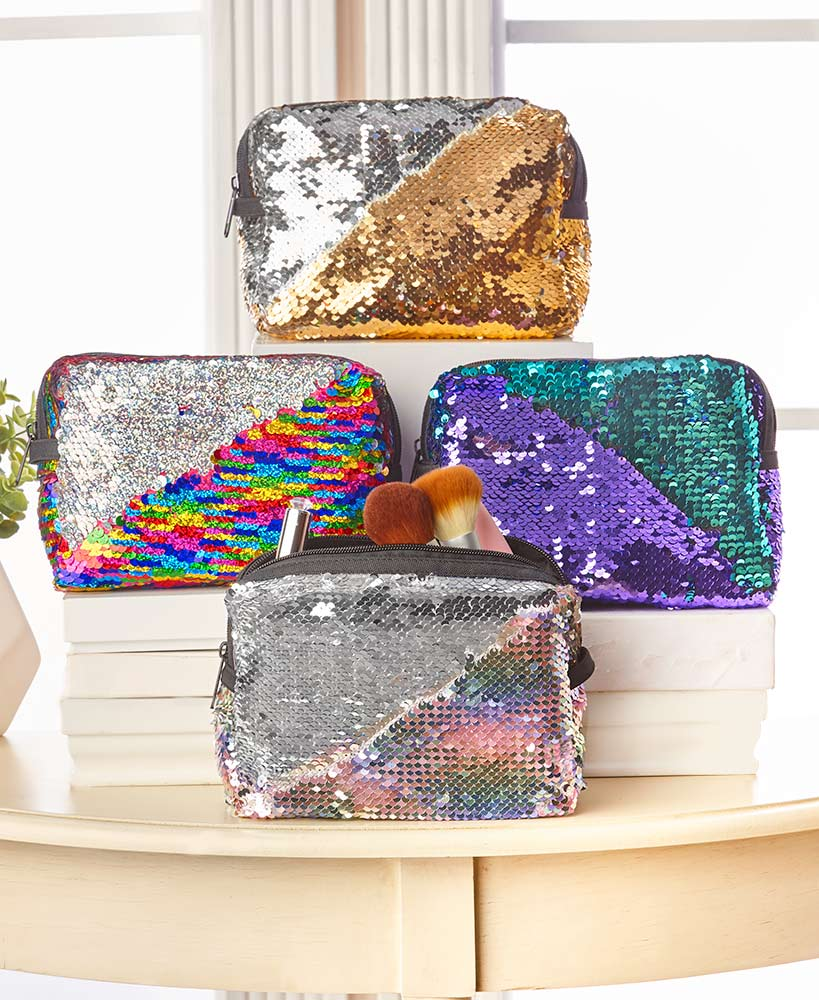 Mermaid Sequin Cosmetic Bags