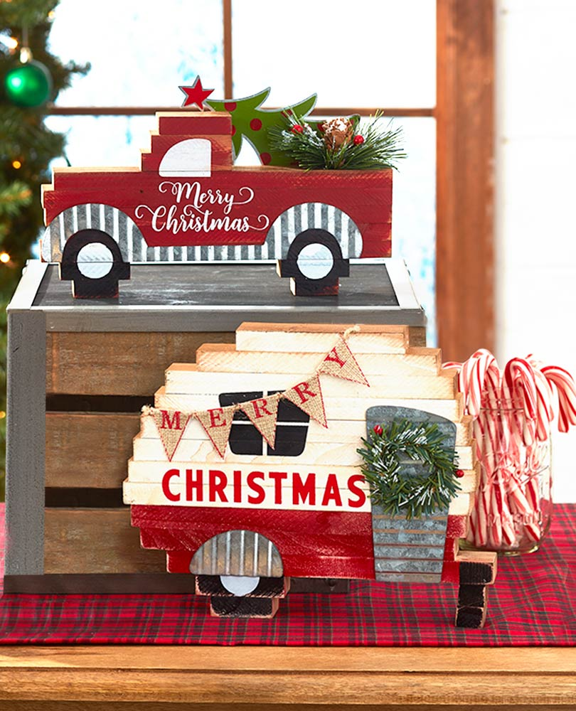 Sentiment Wood Block Holiday Signs