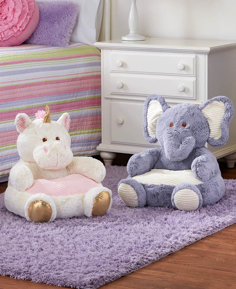 Kids Plush Animal Chairs
