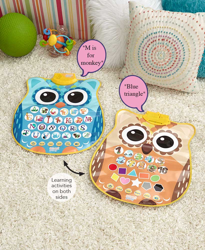 Double Sided Educational Owl Mat