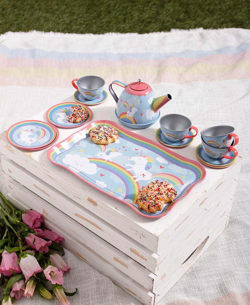 Whimsical Tin Tea Sets