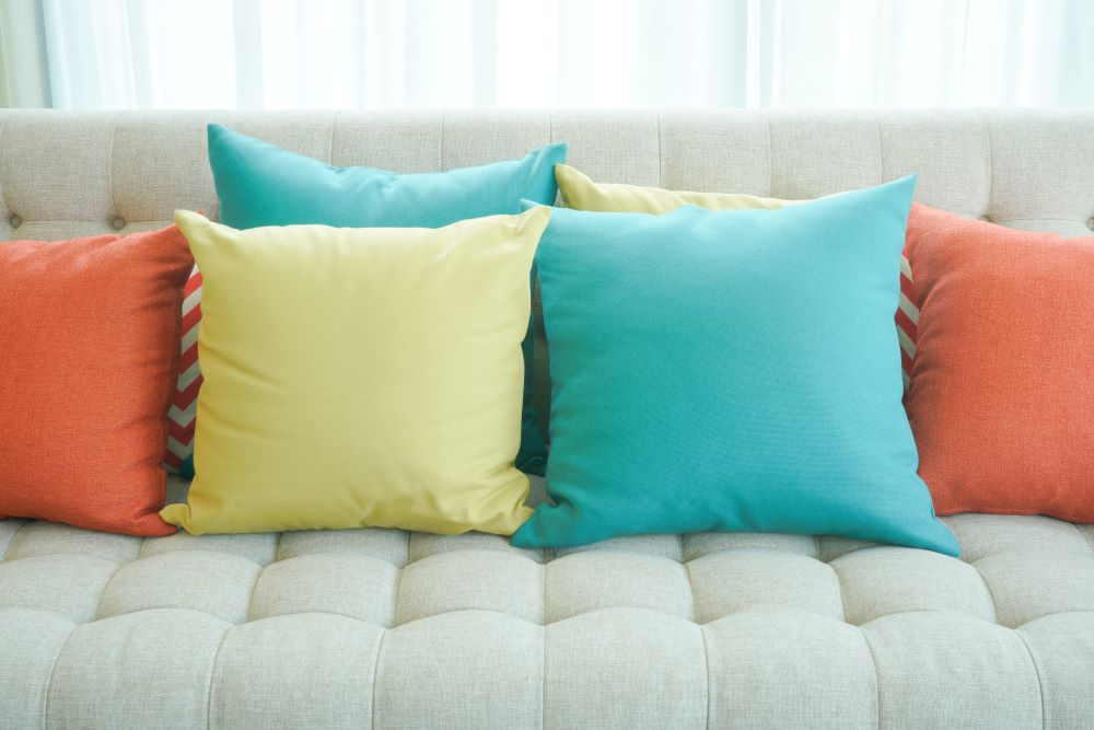Ways To Add Color To Your Home - Colorful Throw Pillows