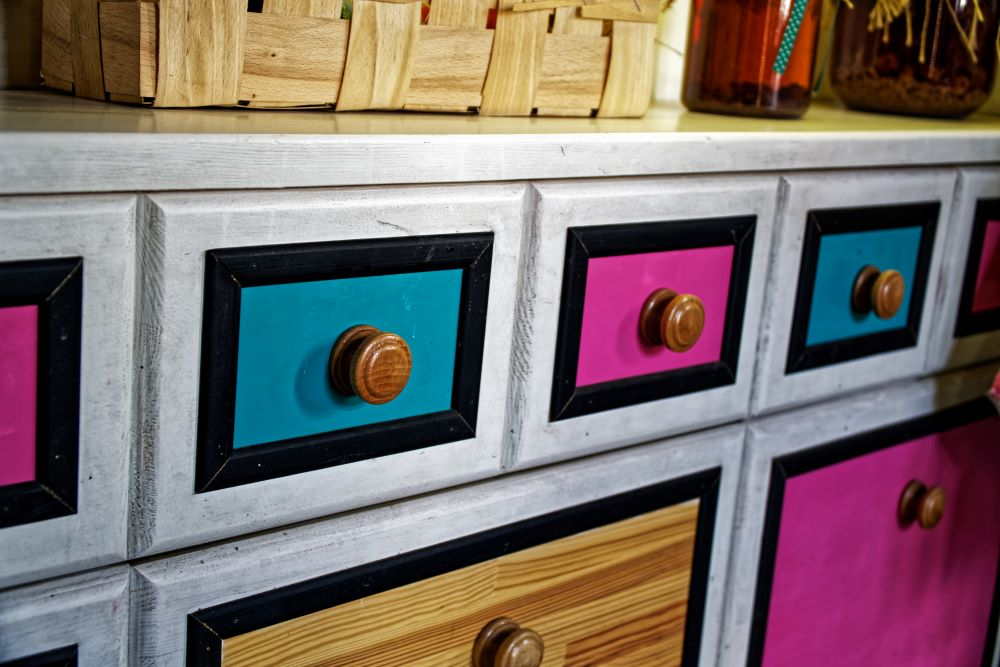 Ways To Add Color To Your Home - Colored Drawers