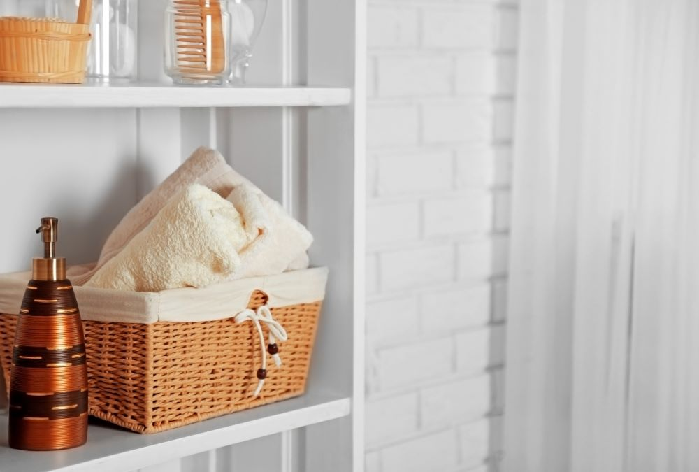 Wicker Basket Storage - Bathroom Basket