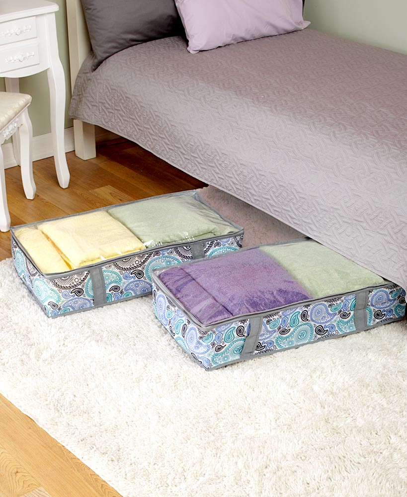 Set Of 2 Underbed Storage Bags