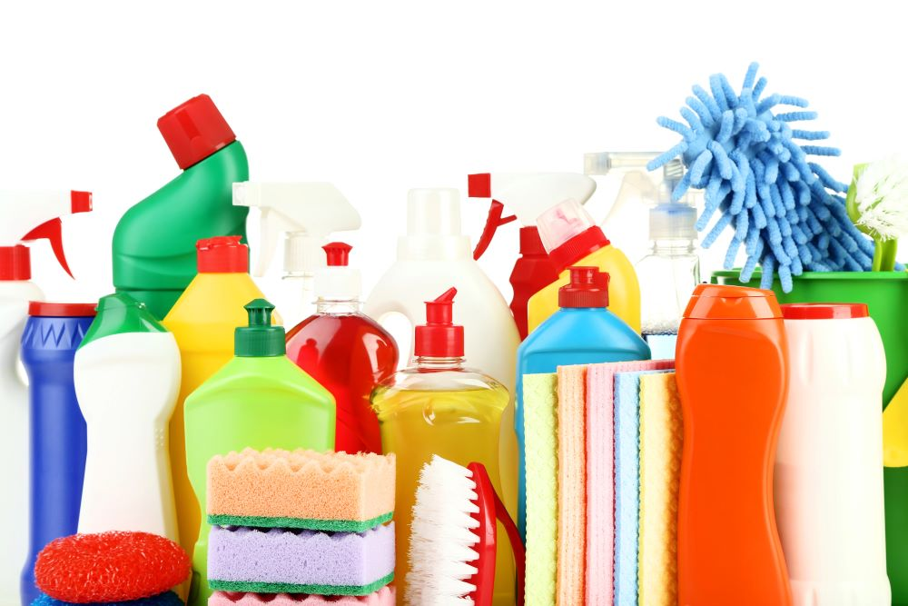 Organize A Laundry Room - Cleaning Supplies