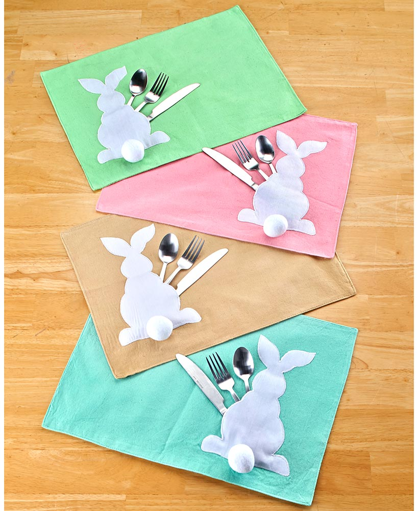 Cottontail Bunny Placemats With Holders