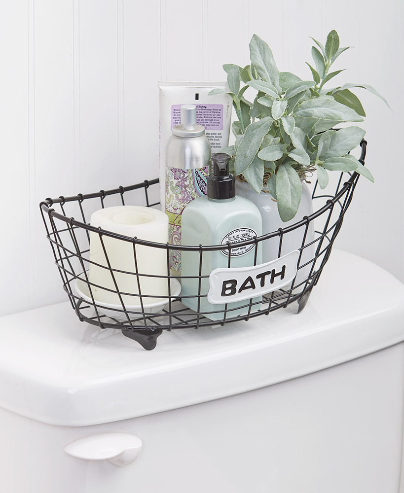 Storage Ideas For A Small Bathroom - Country Bath Storage Basket