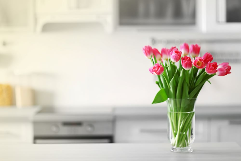 Ways To Add Color To Your Home - Vase Of Pink Flowers