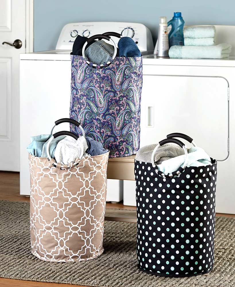 Canvas Laundry Totes With Jumbo Handles