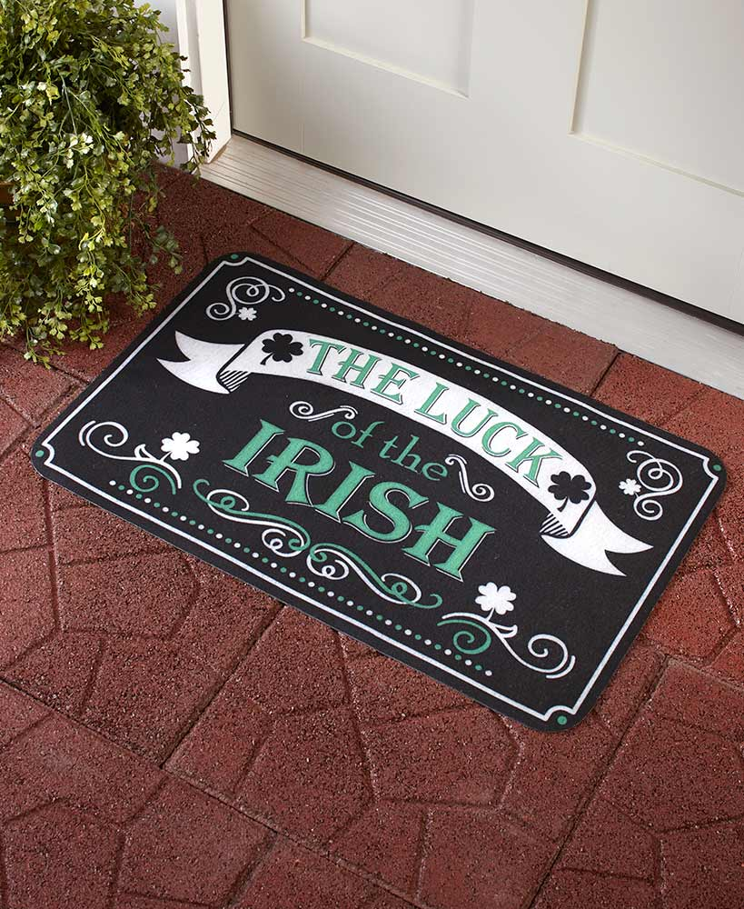 The Luck Of The Irish Four Leaf Clover Doormat