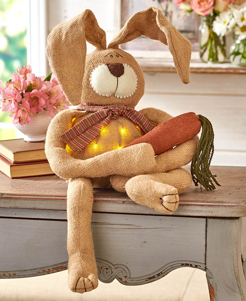 Lighted Country Bunny