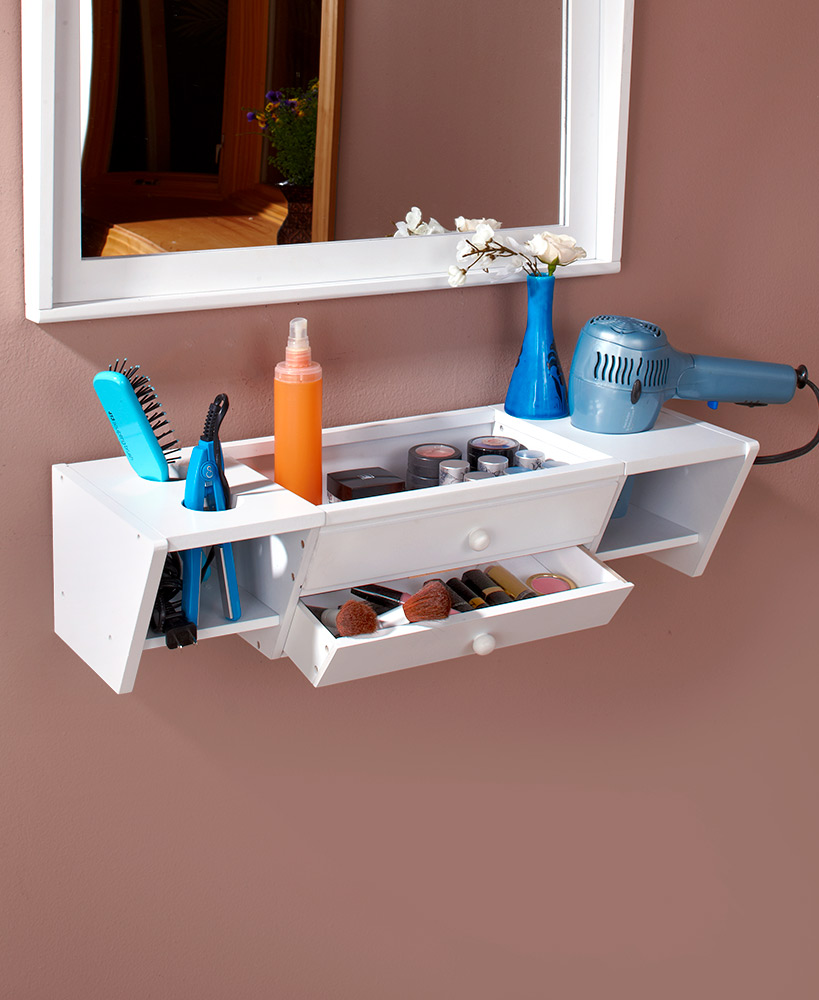 Storage Ideas For A Small Bathroom - Wall Mounted Vanity Shelves