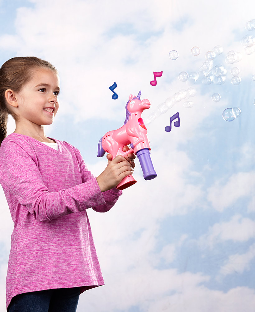 Musical Unicorn Bubble Machine
