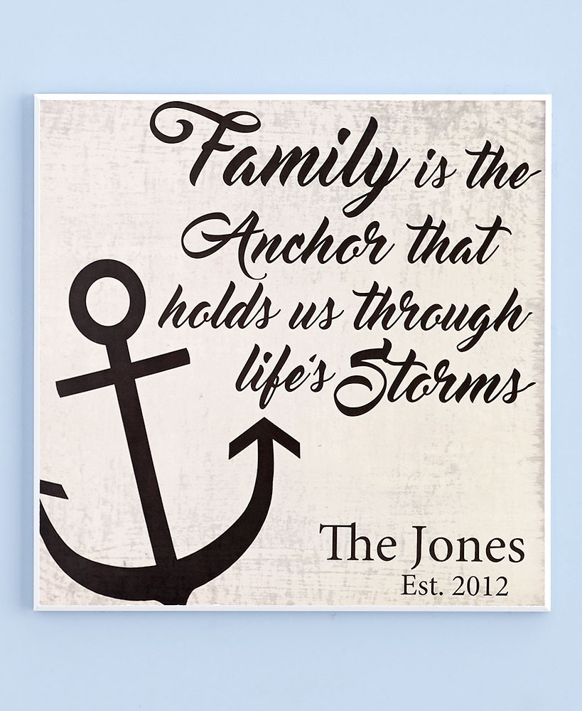 Coastal Themed Personalized Plaque