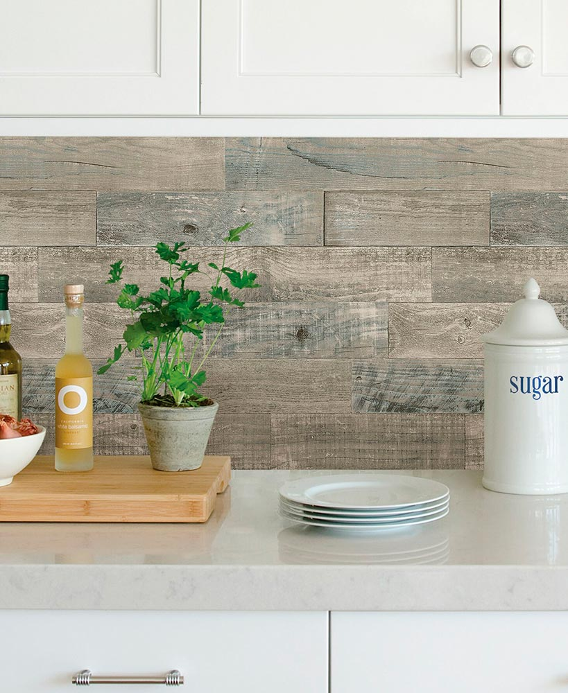 Brewster Peel and Stick Coastal Wood Backsplash