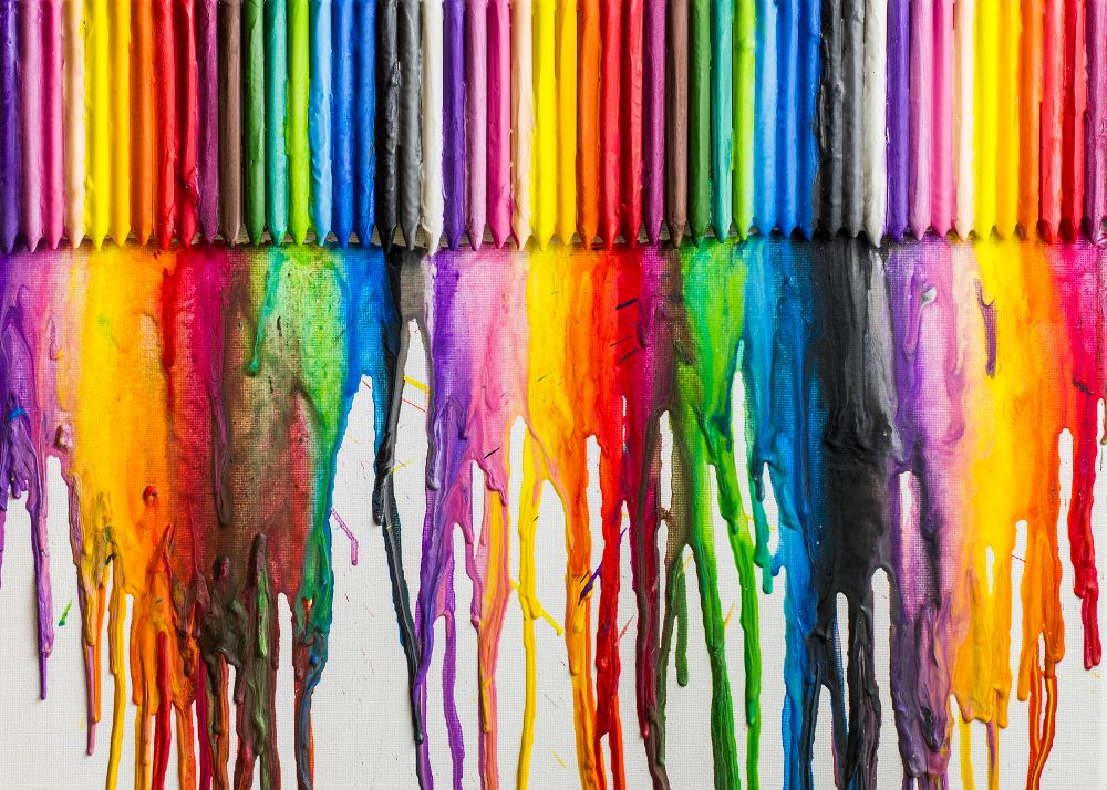 DIY Wall Decorating Ideas - Melted Crayon Art