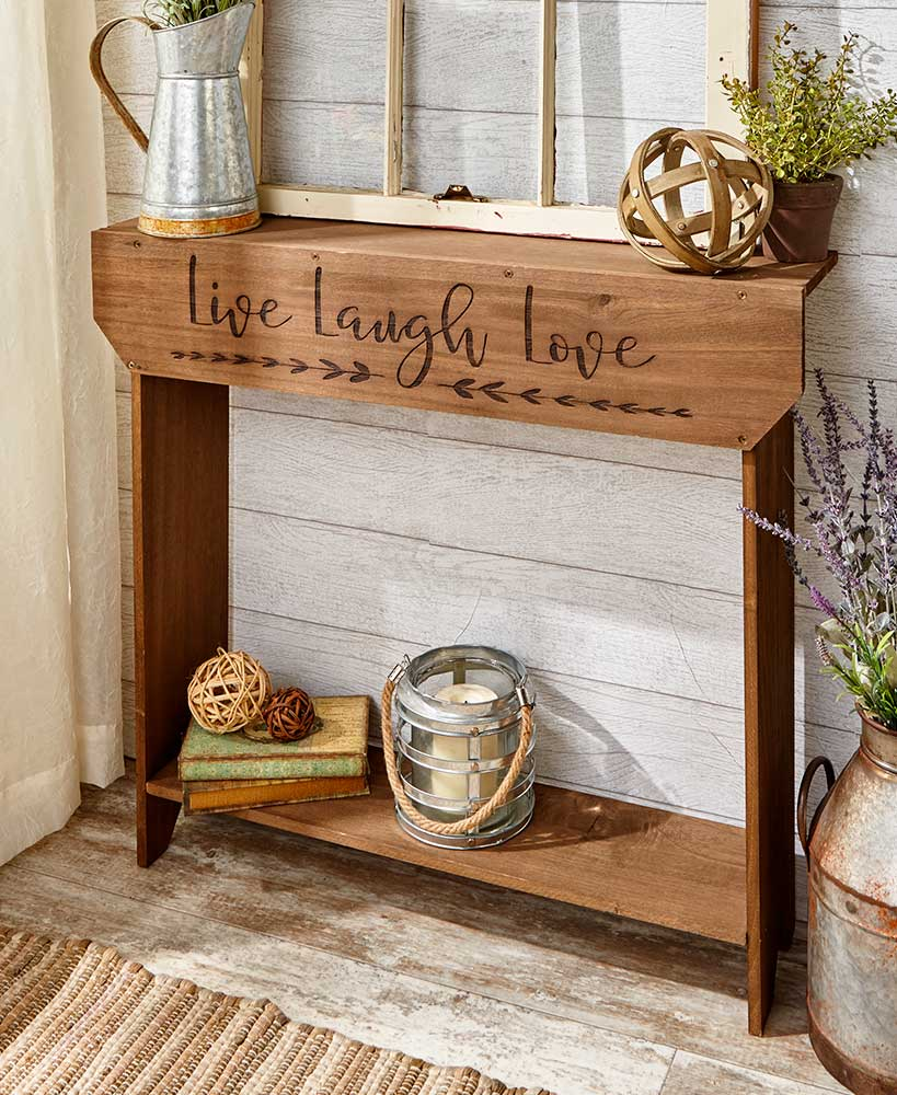 Farmhouse Sentiment Table
