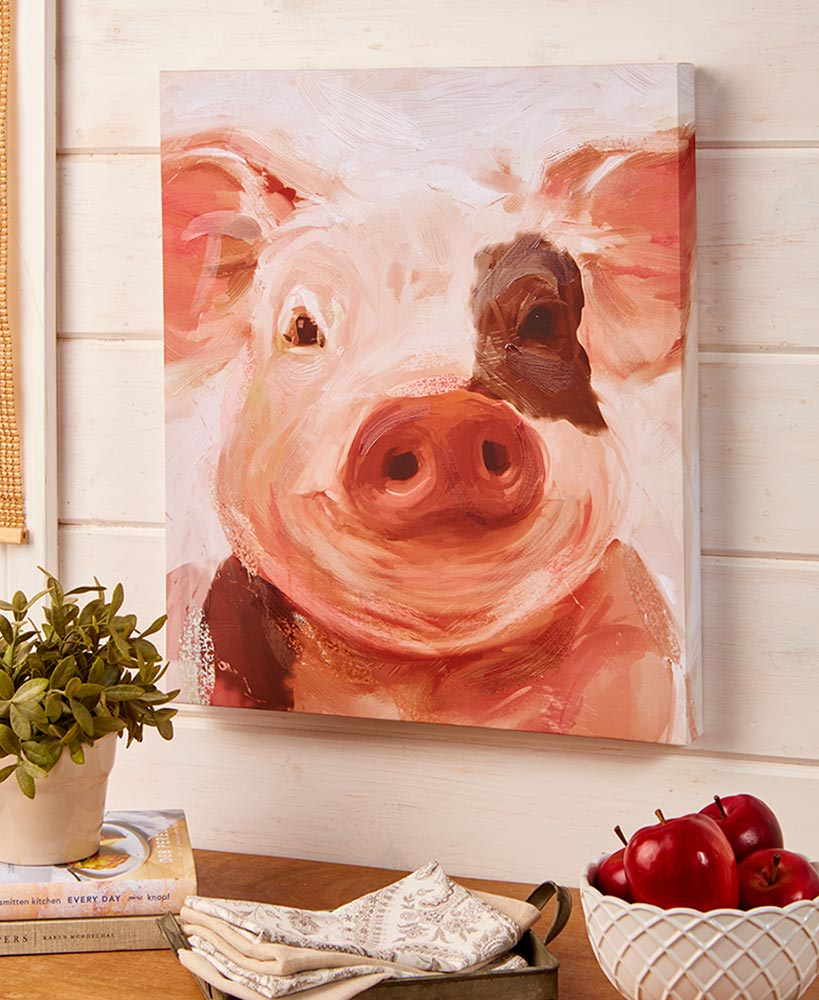 Pig Canvas Wall Art