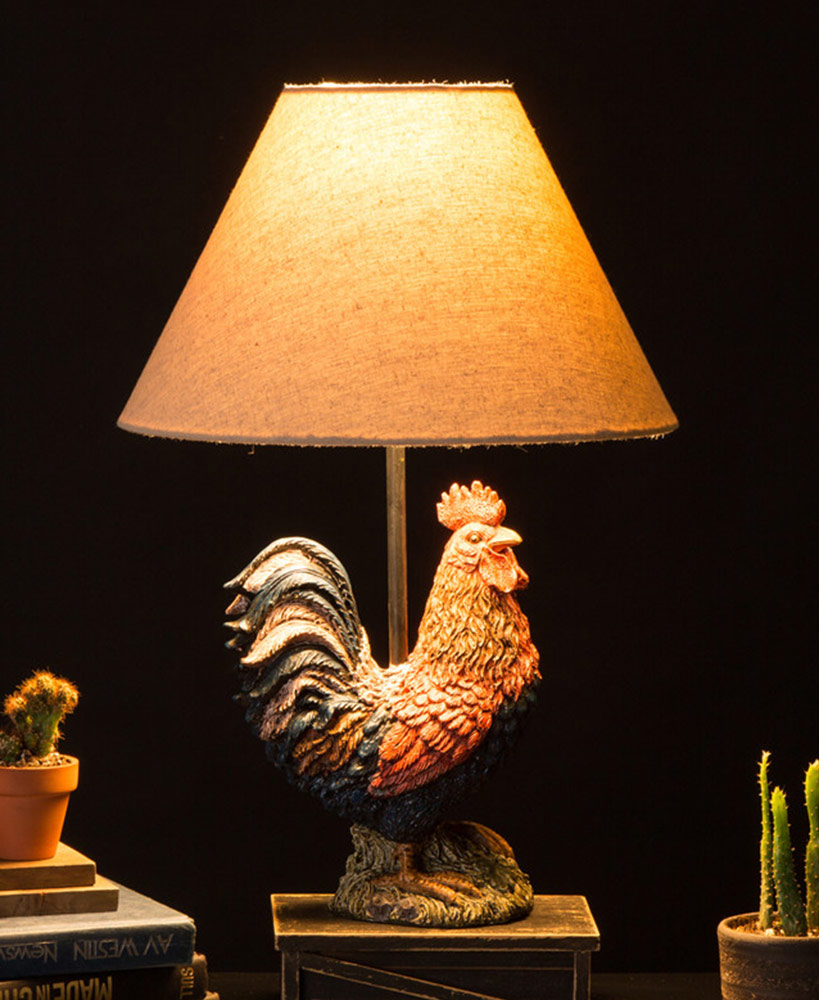 Farmhouse Rooster Table Lamp
