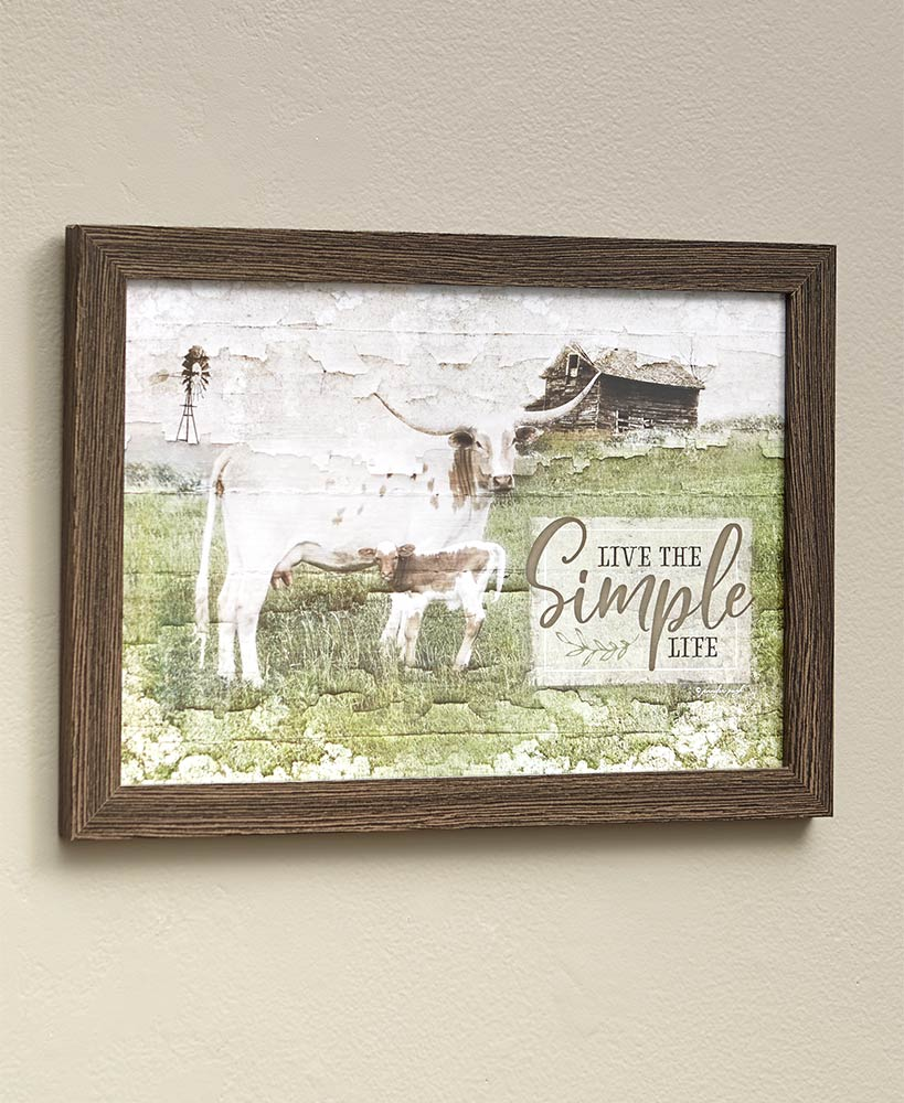 Simple Life Country Framed Wall Art