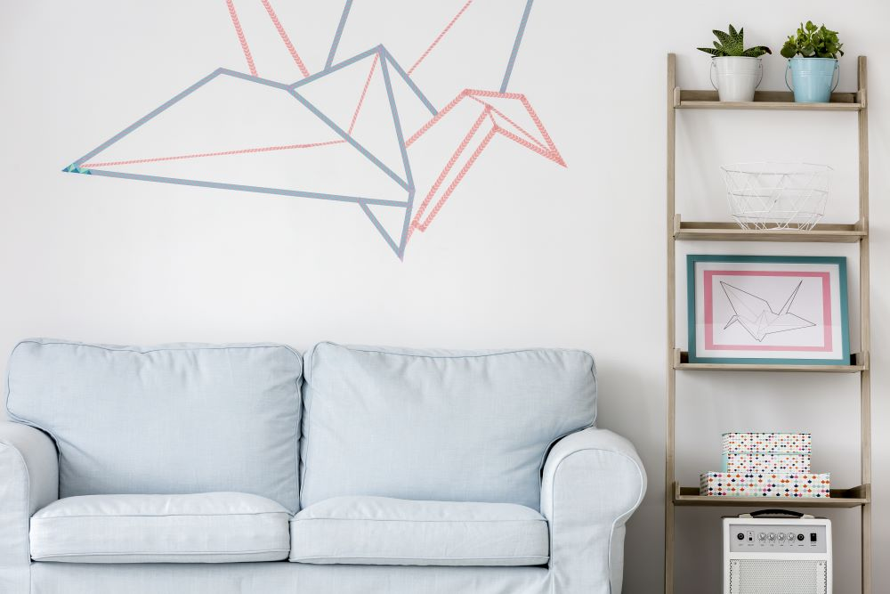 DIY Wall Decorating Ideas - Washi Tape Wall Art
