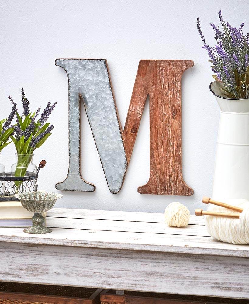 Wood And Metal Decorative Wall Letters