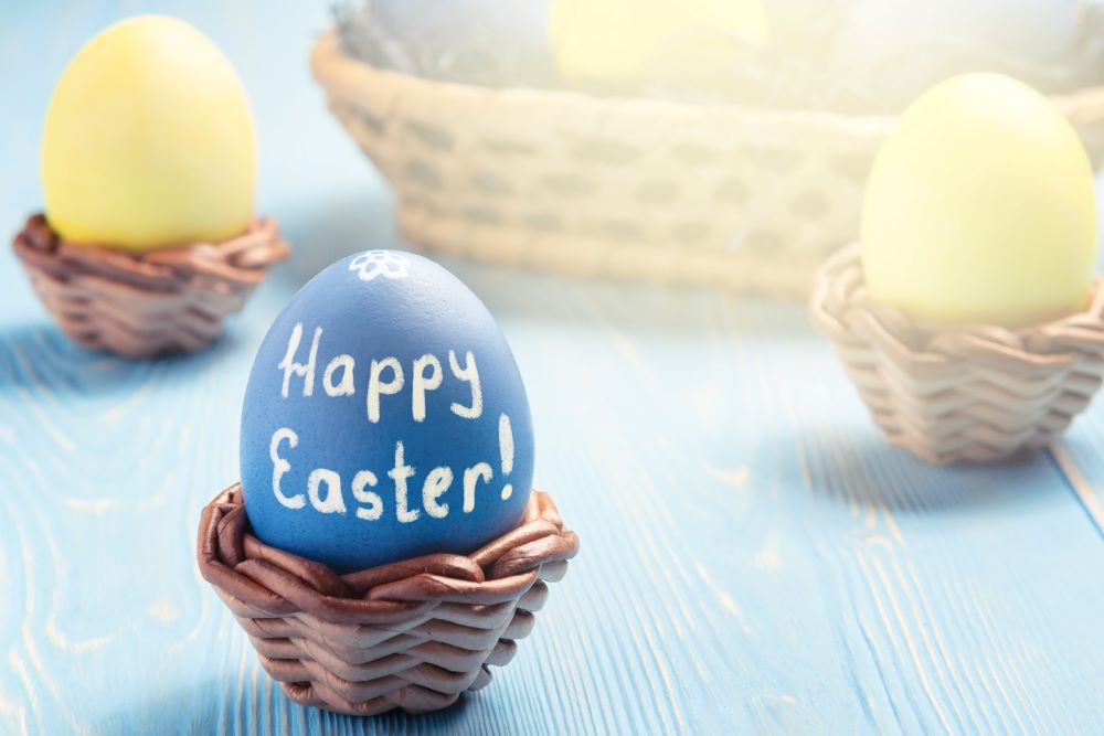 Easter Egg Decorating Ideas - Easter Sentiment
