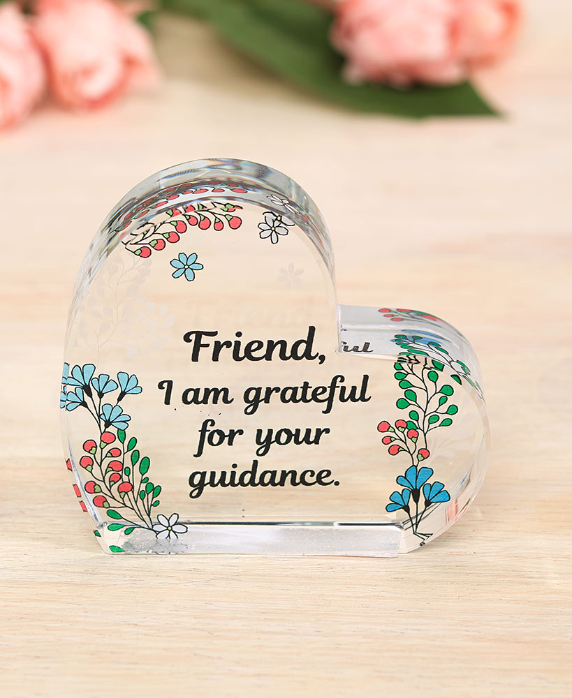 Birthday Gifts For Friends - Friendship Sentiment Glass Heart