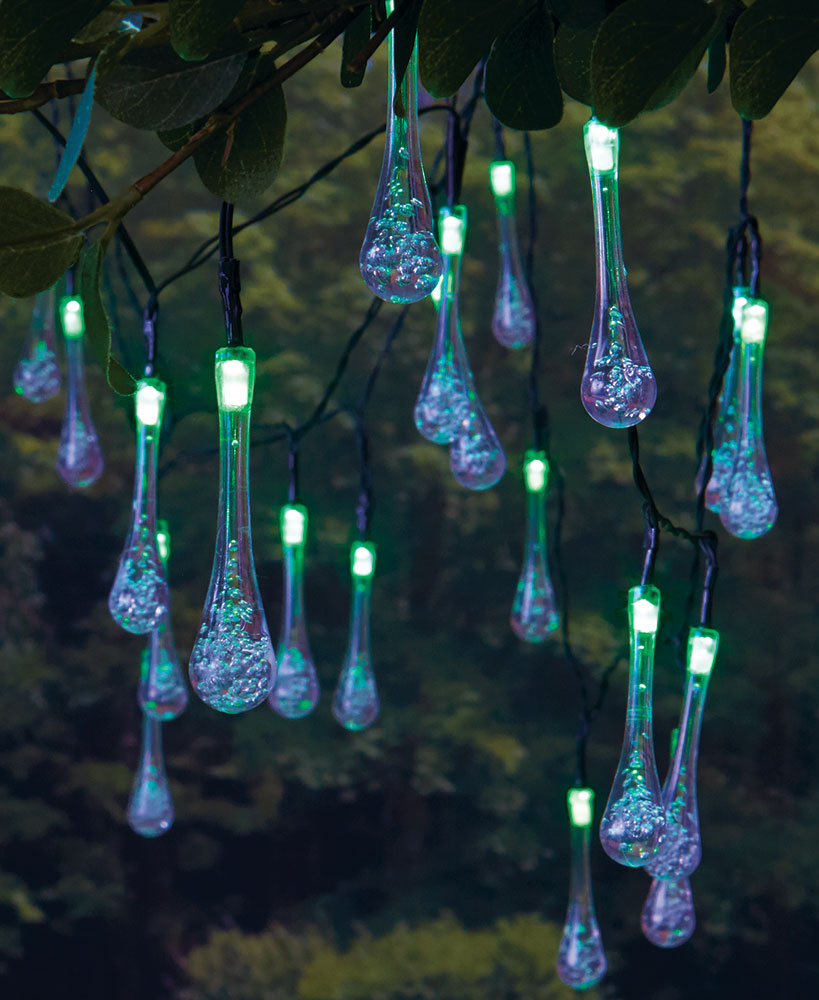 Solar Raindrop String Lights
