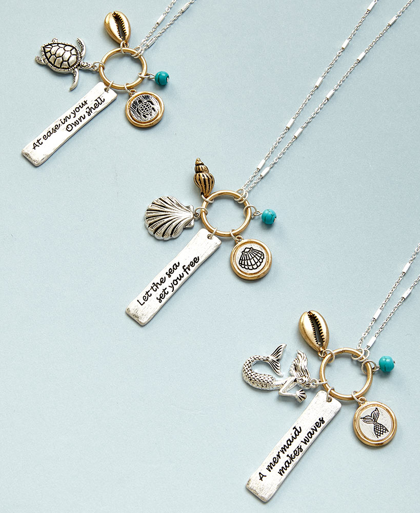 Birthday Gifts For Friends - Inspirational Sealife Charm Necklaces