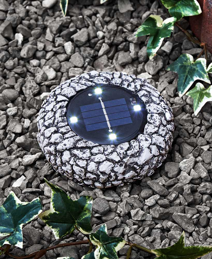 Solar Stone Look Path Lights