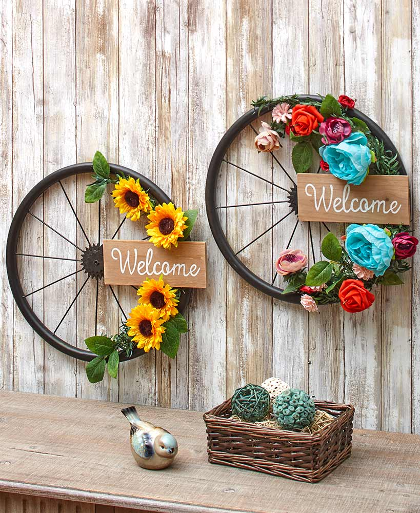 Birthday Gifts For Friends - Welcome Hanging Bicycle Wheels