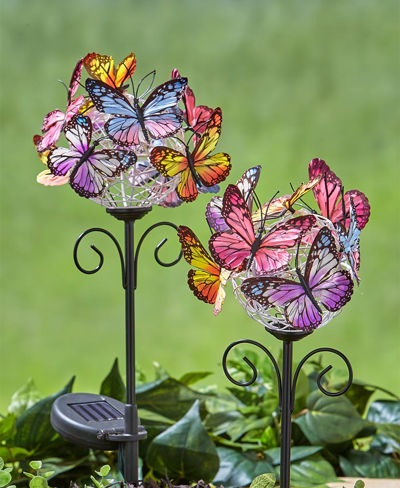Multi-Colored Butterfly Garden Stakes