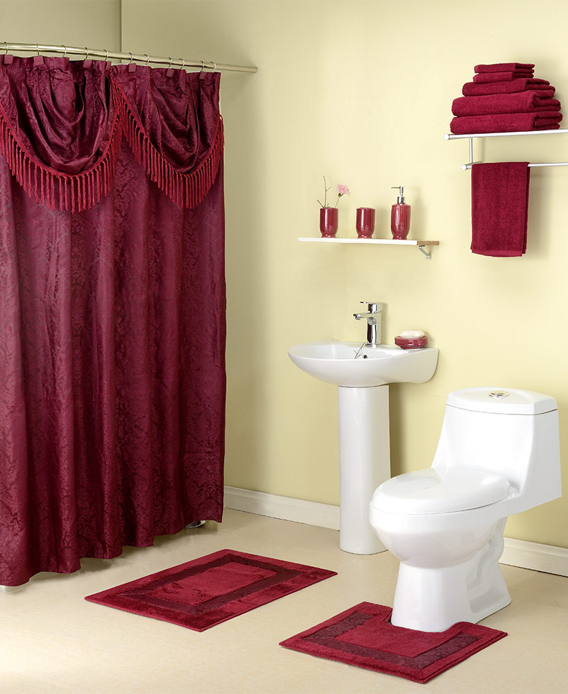 15-Pc. Jacquard Bathroom Value Sets