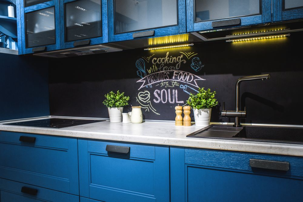Blue Kitchen Cabinets For Summer