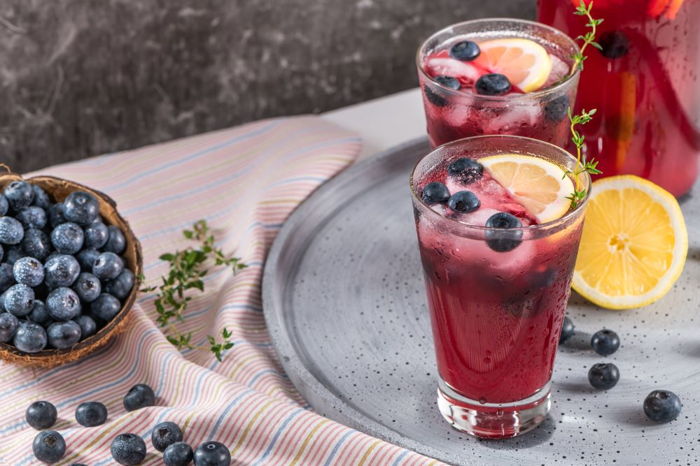 Drink Recipes For 4th of July - Blueberry Lemonade Sangria