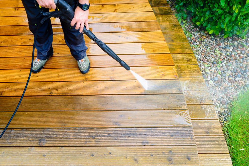 Summer Home Improvement Projects - Power Wash Your Deck