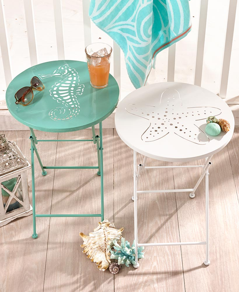 Foldable Metal Icon Tables