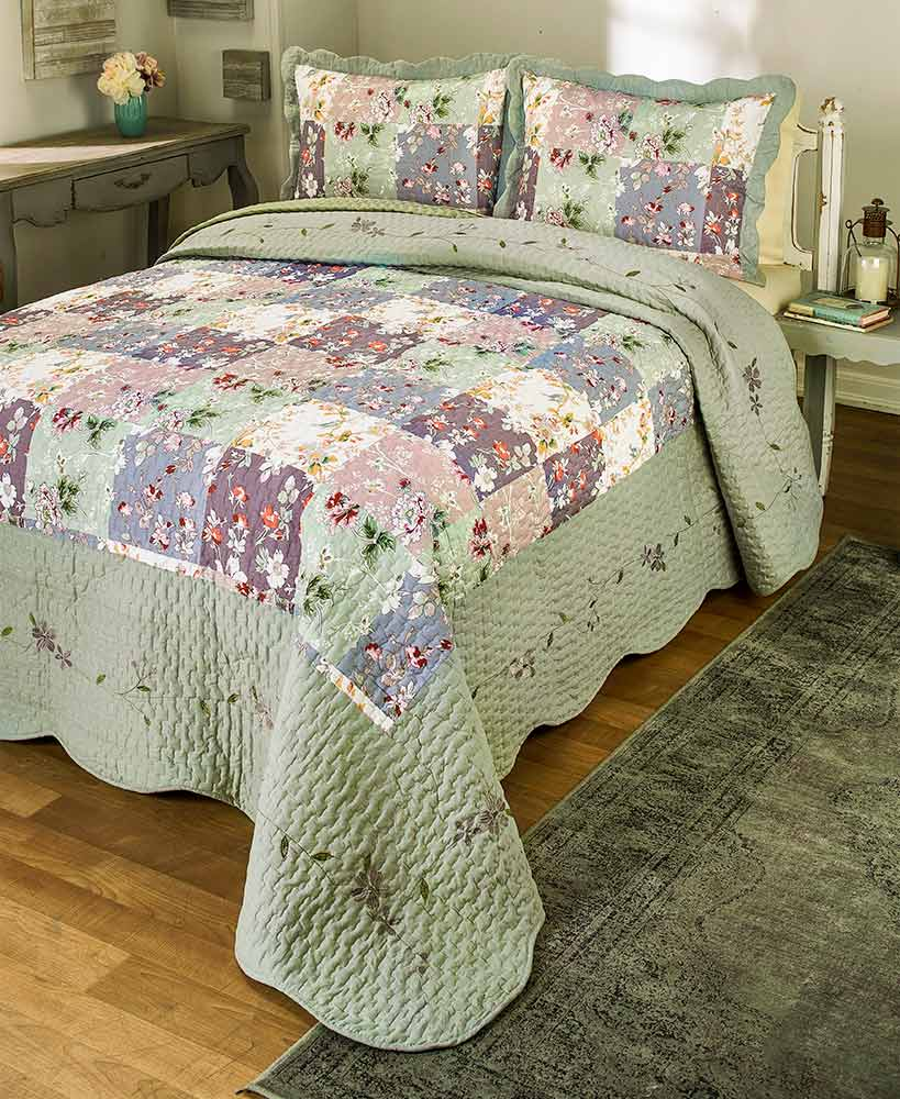Floral Decorations - Constance Embroidered Quilt Collection