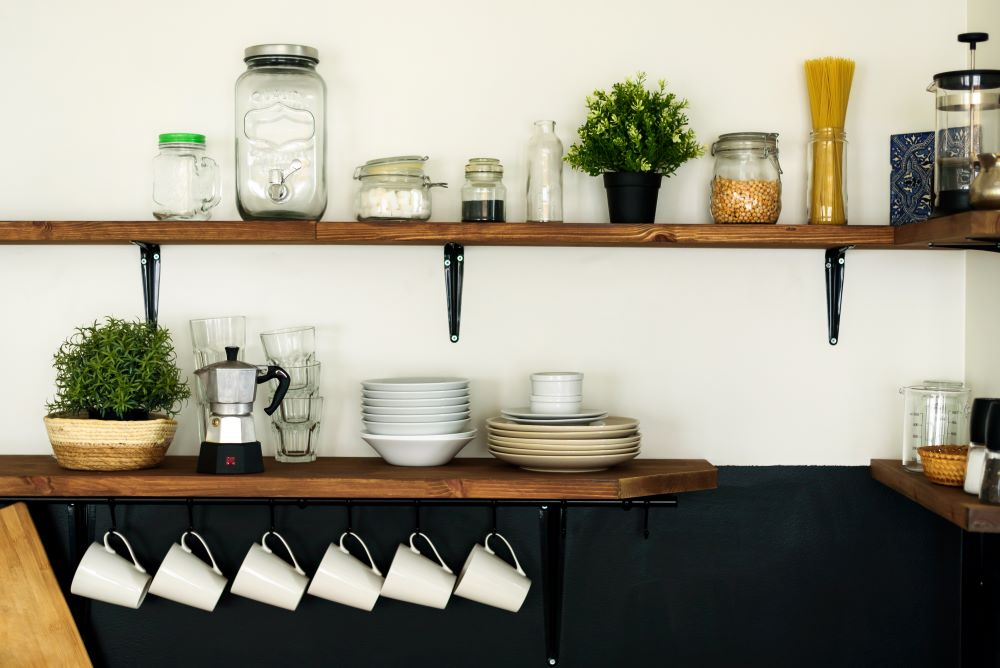 Install Floating Shelves In Your Kitchen
