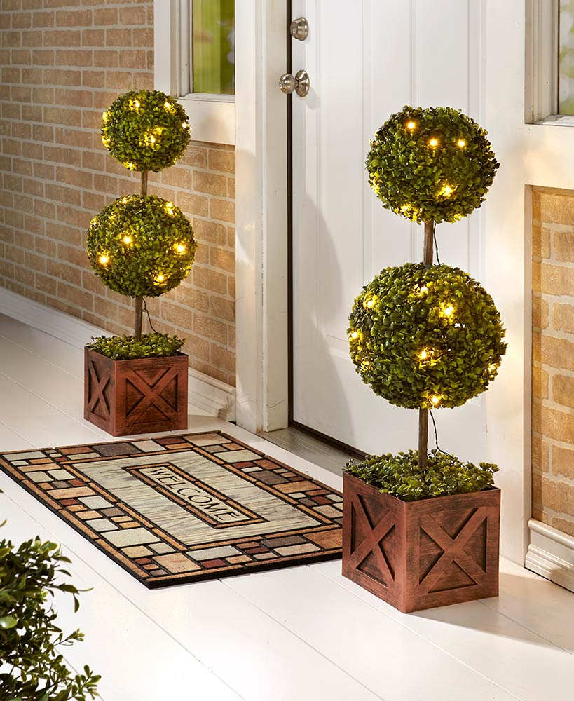 Lighted Topiaries