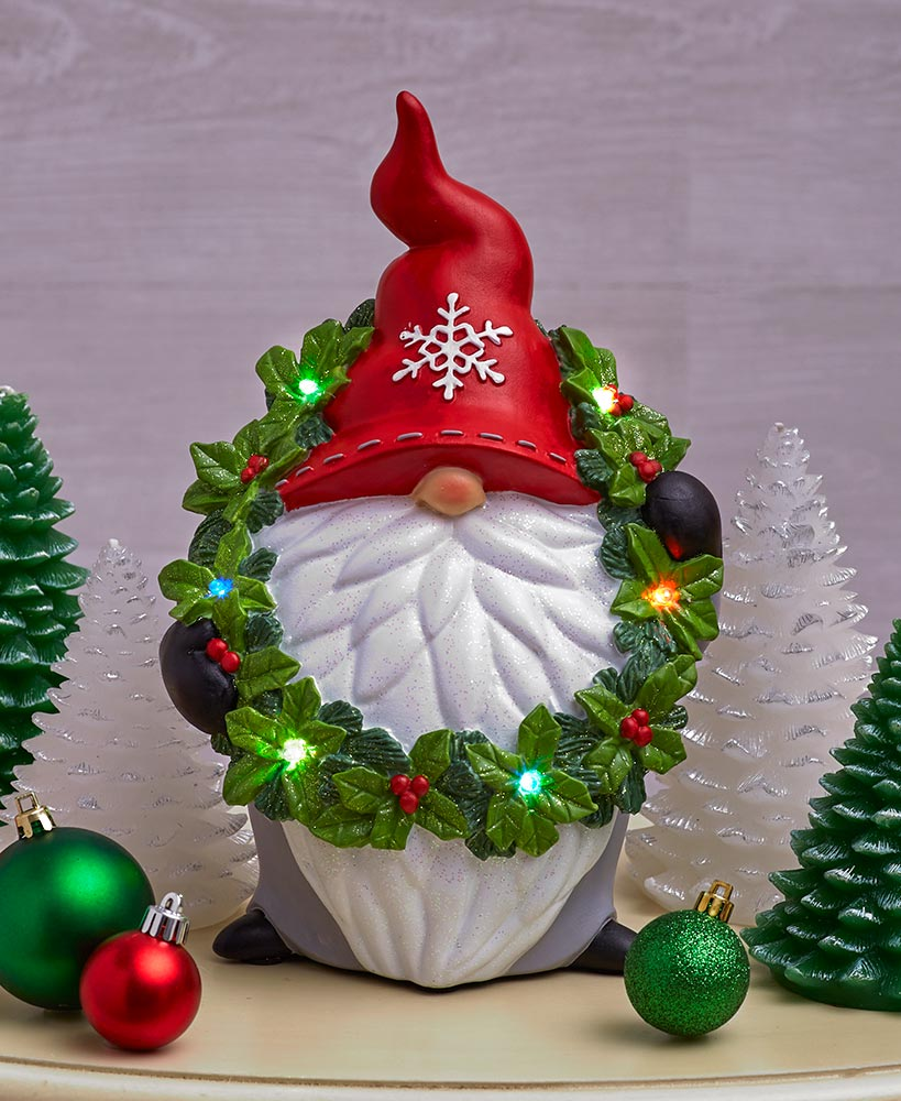Lighted Color-Changing Christmas Gnome