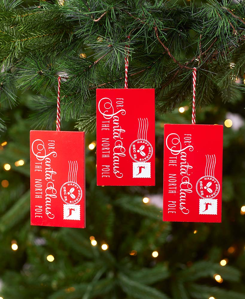 Set of 3 Letter Ornaments